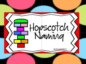Hopscotch naming activity