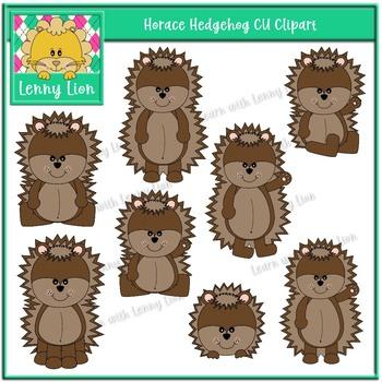 Horace Hedgehog CU Clipart