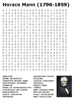 Horace Mann Word Search