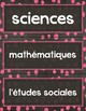 Horaire Visuel/ French Schedule Cards