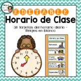 Horario de Clases **EDITABLE** Daily Schedule