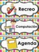 Schedule cards editables/ Horario de clase editable