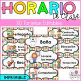 Schedule cards editables/ Horario de clase editable