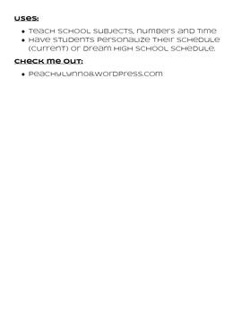 Horario de classes - Spanish 1 Class Schedule