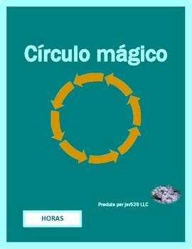 Horas (Time in Portuguese) Círculo mágico
