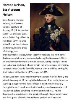 Horatio Nelson, 1st Viscount Nelson Handout