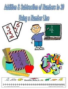Horizontal Addition & Subtraction of Numbers to 30 Pack