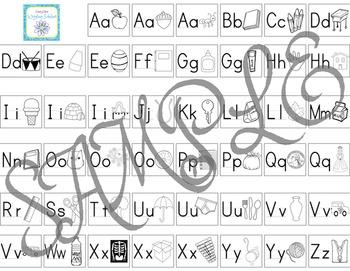 Manusscript Alphabet