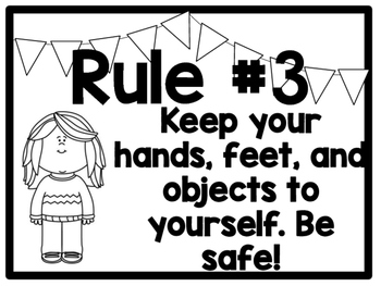 Horizontal Classroom Rules Posters