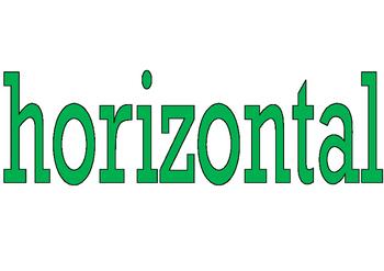 Horizontal Display Sign