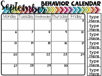 Editable Horizontal Behavior Calendars