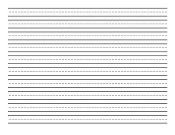Horizontal Handwriting Paper