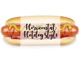 Horizontal Hotdog Style Poster
