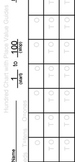 Horizontal Hundred Chart with Place Value Guides