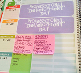 Erin Condren Lesson Planbook Labels - No School Days