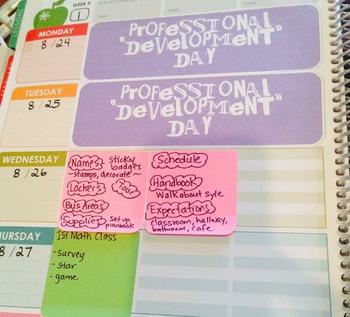 Erin Condren Lesson Planbook Labels - No School Days
