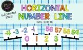 Horizontal Number Line (whiteboard series)
