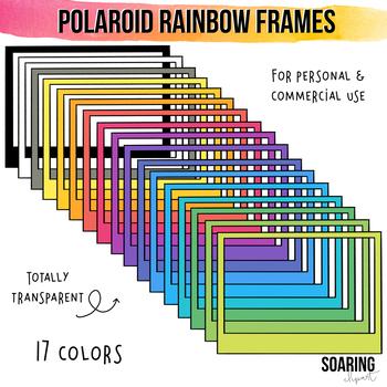 Horizontal Polaroid Rainbow Frames and Borders