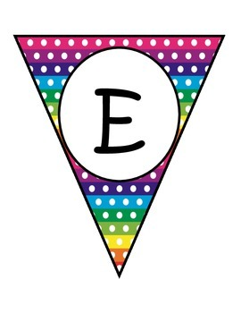 Horizontal Rainbow Dots Welcome Banners in English and Spanish