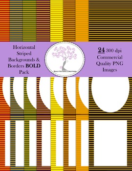 Horizontal Striped Backgrounds and Borders BOLD Pack