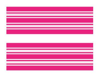 Horizontal Stripes - 50 Color Border Set Series Bulletin Board Corners