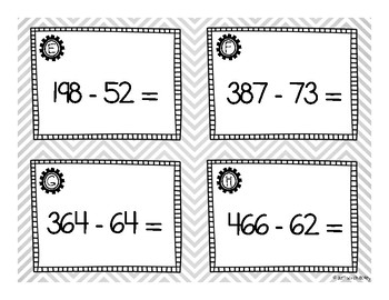 Horizontal Subtraction with 3 Digits, no Regrouping