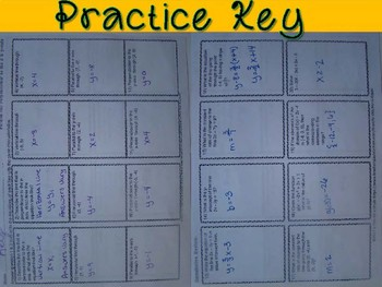 Horizontal & Vertical Lines Foldable, INB Activity, Practice, and Exit Ticket