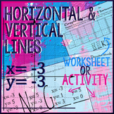 Horizontal & Vertical Lines: Graph & Write Equations Activity/Worksheet