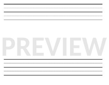 Horizontal & Vertical Writing Templates