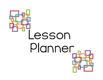 Horizontal Weekly Lesson Planner