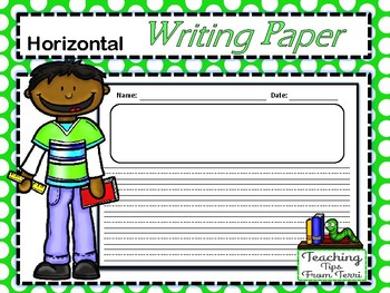 Horizontal Writing Paper