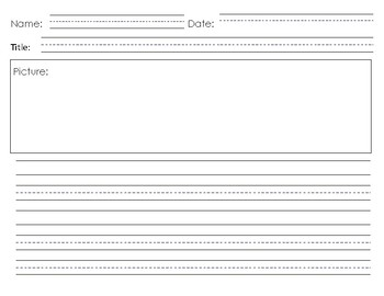 Horizontal Writing Paper- Fat and Skinny Lines