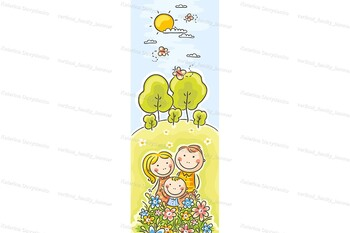 Horizontal and Vertical Family Banners