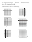 Horizontal and Vertical Line Homework