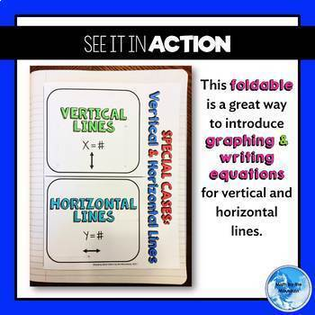Horizontal and Vertical Lines Foldable