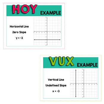 Horizontal and Vertical Lines (HOY VUX) - Posters and Reference Sheet