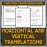 Transformations: Horizontal and Vertical Translations Lesson Plan