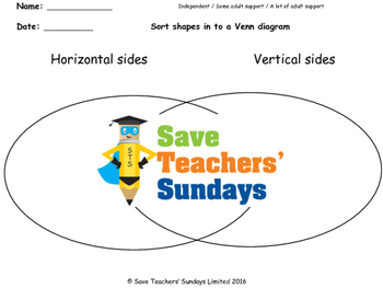 Horizontal and vertical lines  worksheets (2 levels of dif
