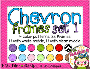 Horizontal chevron paper frames with white and clear middle