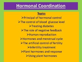 Hormonal coordination