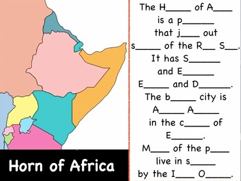 "Horn of Africa Sing-Along Movie and Test from ""Geography Songs"""