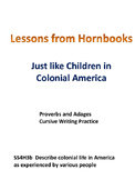 Hornbook Lessons Proverbs and Adages in Colonial America