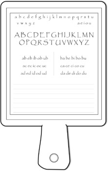 Hornbook Clipart Replica Template for Personal and Commercial Use