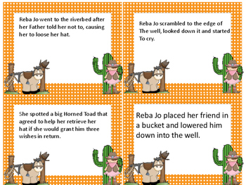 Horned Toad Prince Summarize and Sequence Card Activity