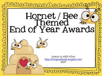 Hornet or Bee Themed Awards