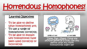 Horrendous Homophones! (Double Lesson)