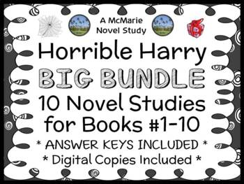 Horrible Harry BUNDLE (Suzy Kline) 10 Novel Studies for Books #1-10  (192 pages)