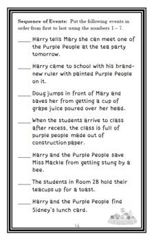 Horrible Harry BUNDLE (Suzy Kline) 10 Novel Studies for Books #1-10  (192 pages)