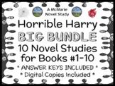 Horrible Harry BUNDLE (Suzy Kline) 10 Novel Studies for Books #1-10  (195 pages)