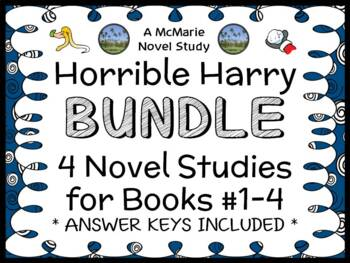 Horrible Harry BUNDLE (Suzy Kline) 4 Novel Studies for Books #1-4  (78 pages)